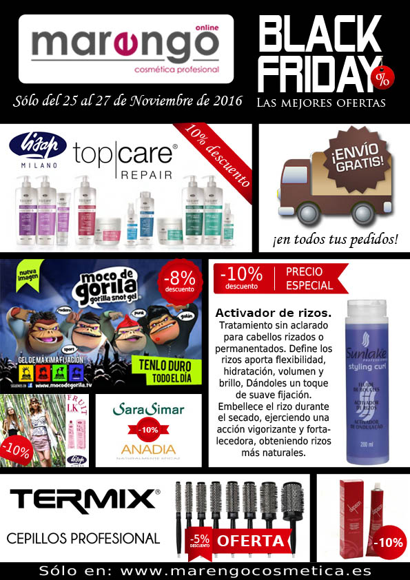BLACK FRIDAY EN MARENGO COSMETICA PROFESIONAL
