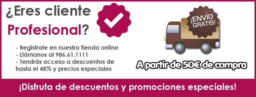 Precios especiales para clientes profesionales. Envío GRATIS a partir de 50€ de compra. Marengo Cosmética Profesional