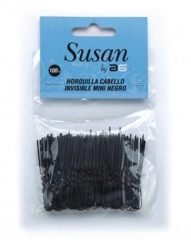 HORQUILLAS MOÑO INVISIBLES SUSAN 4.5cm NEGRO